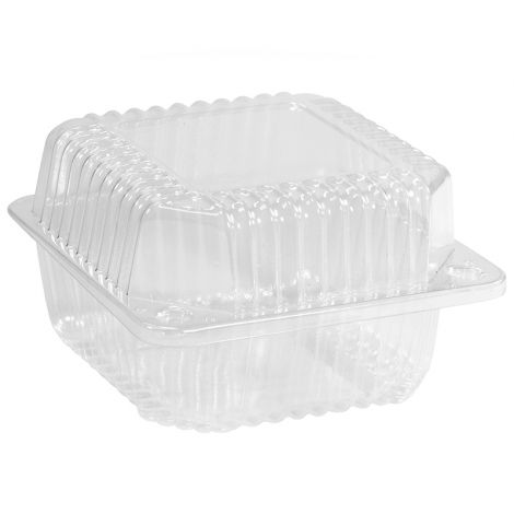 "5"" Deep Square Hinge Container, 6 ct"