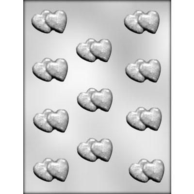 "1"" Double Heart Choc Mold"