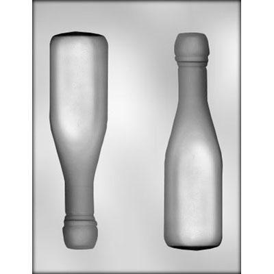3D Champagne Bottle Choc Mold