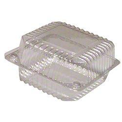 """5"""" Medium Square Hinge Container, 25 ct"""