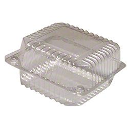 "5"" Medium Square Hinge Container, 100 ct"
