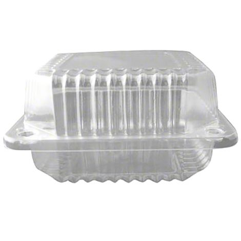 "5"" Shallow Square Hinge Container, 100 ct"