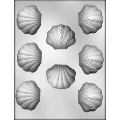 "1-1/4"" Clam Shell Choc Mold"