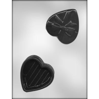 "3-3/8"" Heart Box Choc Mold"