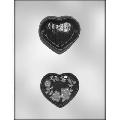"3-1/4"" Heart Box Choc Mold"