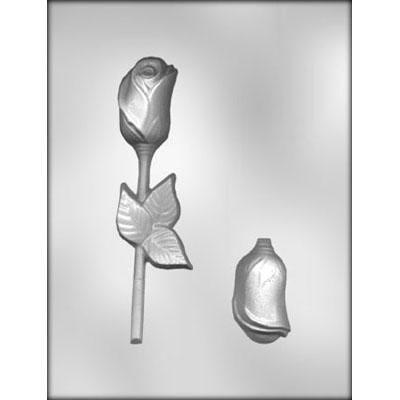 3-D Rose W/leaf Choc Mold