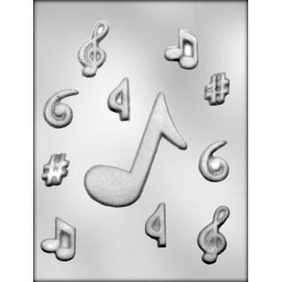 Music Note Assortment Choc Mold