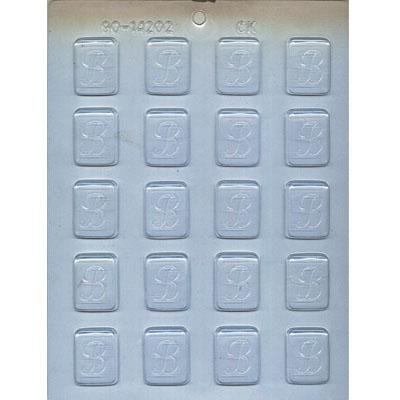 "1-1/4"" Initial B Mint Choc Mold"