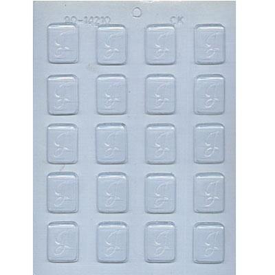 "1-1/4"" Initial J Mint Choc Mold"