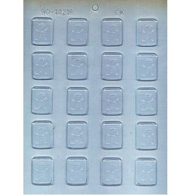 "1-1/4"" Initial R Mint Choc Mold"