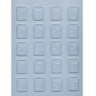 "1-1/4"" Initial T Mint Choc Mold"