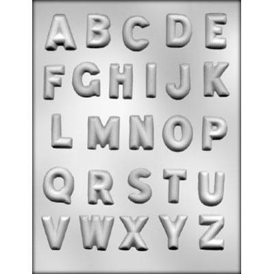 "1-1/4"" Alphabet Choc Mold"