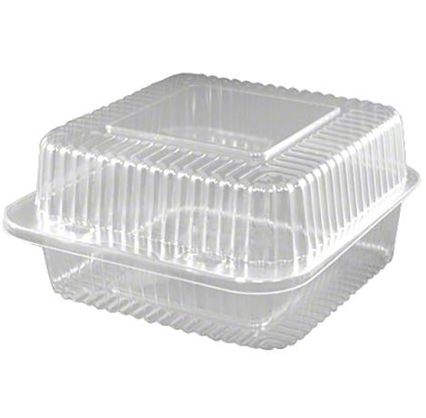 "6"" Deep Square Hinge Container, 100 ct"