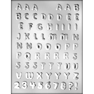 """1/2"""" Letters/Numbers Choc Mold"""