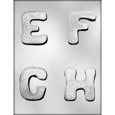 "2-3/4"" E-F-G-H Choc Mold"