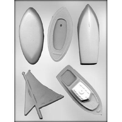 3D Boat Assortment Choc Mold