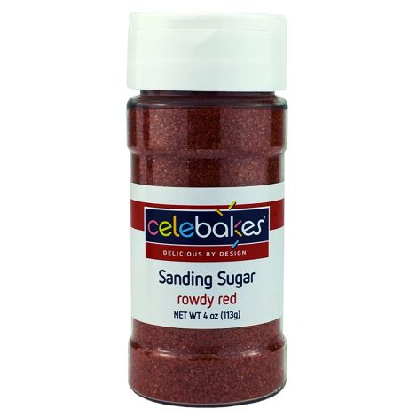 4 oz Sanding Sugar - Rowdy Red