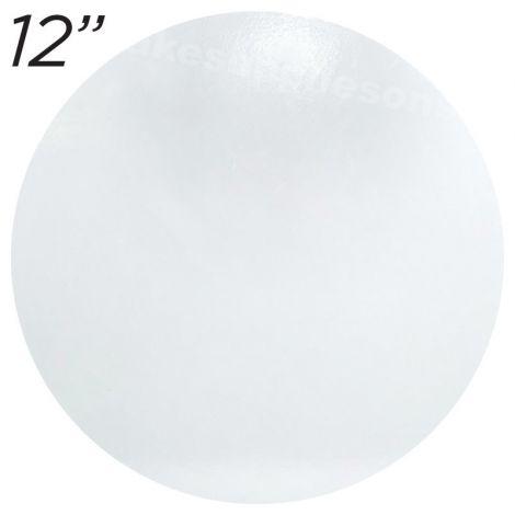 """12"""" White Round Masonite Cake Board - 6 mm thick"""
