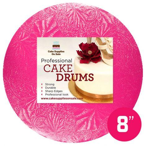 """8"""" Pink Round Drum 1/2"""""""