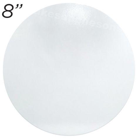 """8"""" White Round Masonite Cake Board - 6 mm thick"""
