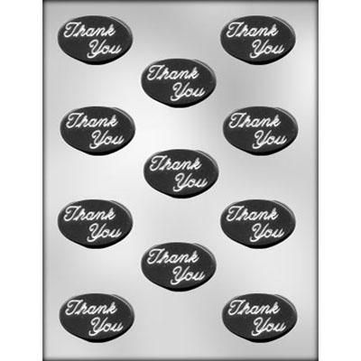 Oval Thank You Mint Choc Mold