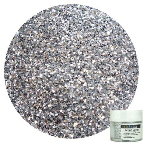 Celebakes Techno Glitter - American Silver