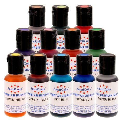 AmeriMist .65 oz, 12 Color Airbrush Kit