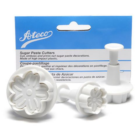 Set of 3 Sugar Paste Daisy Cutters