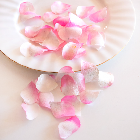 Edible Rose Petals - Baby Pink and White