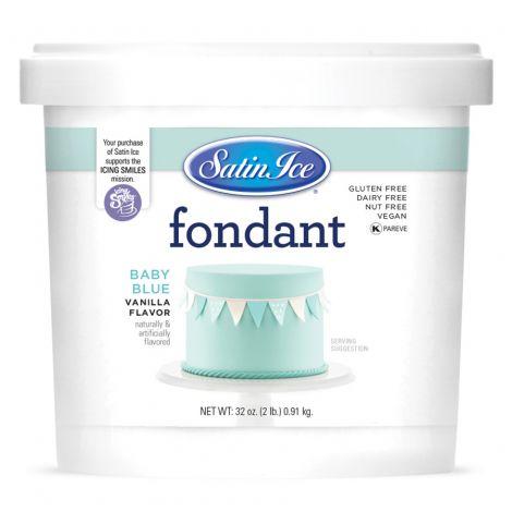 Satin Ice Fondant Baby Blue 2#