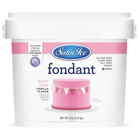 Satin Ice Fondant Baby Pink 5#