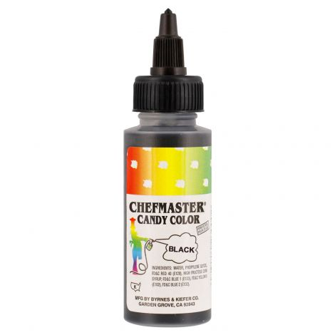 Liquid Candy Color Black - 2 oz.