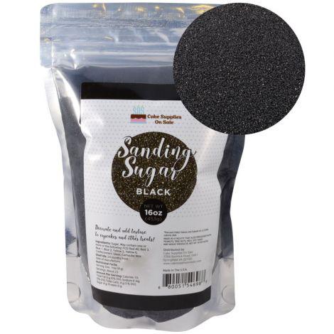 Sanding Sugar Black 16 oz
