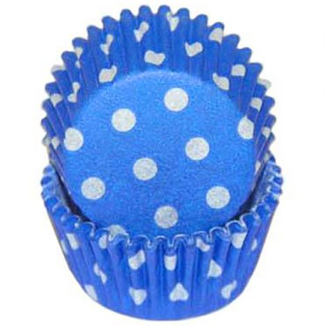 Blue Polka Dot Mini Baking Cups, 500 ct.