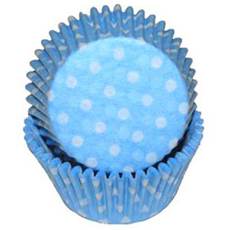 Light Blue Polka Dot Baking Cups, 500 ct.