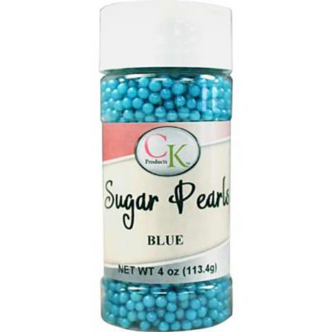 Blue 3-4mm Sugar Pearls 4 OZ