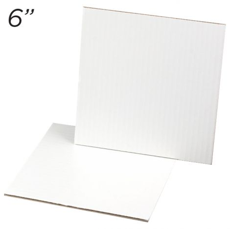 """Cakeboard Square 6"""", 25 ct"""