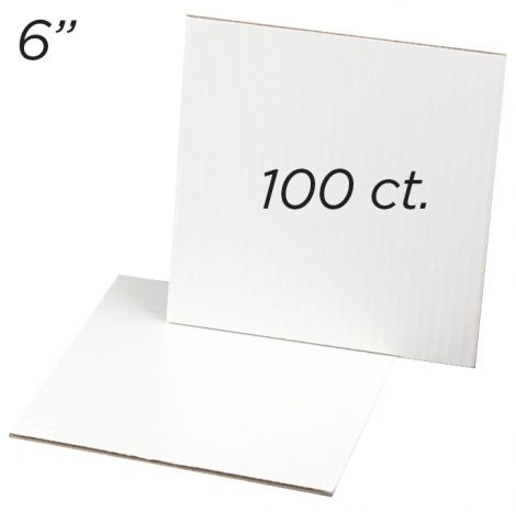 "Cakeboard Square 6"", 100 ct"