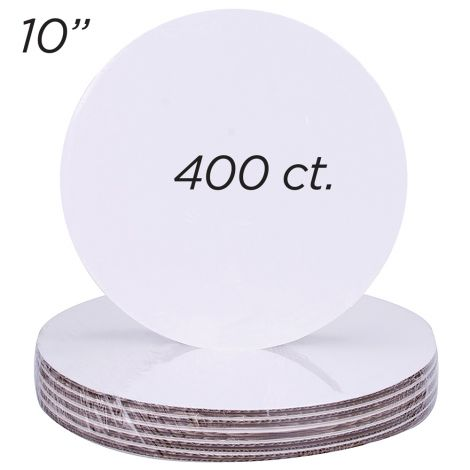 "10"" Round Coated Cakeboard, 400 ct"