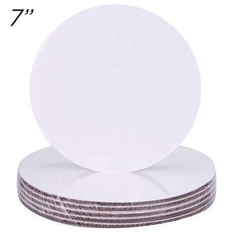 "7"" Round Coated Cakeboard, 12 ct"