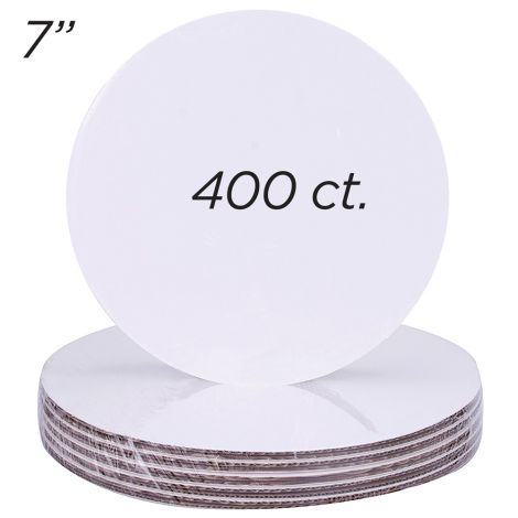 "7"" Round Coated Cakeboard, 400 ct"