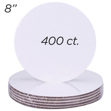 "8"" Round Coated Cakeboard, 400 ct"