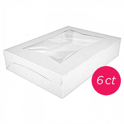 "Cake Box Window 25x18x4"", 6 ct"