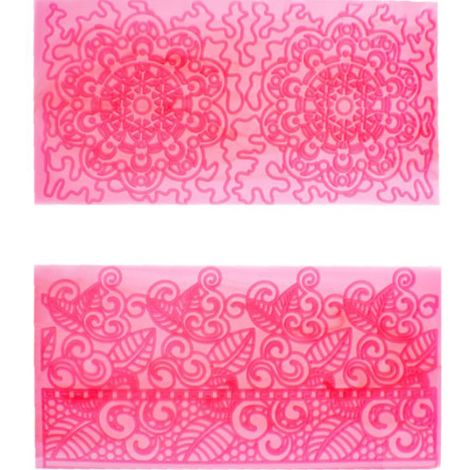 Impression Mat - Filigree Lace Set of 4