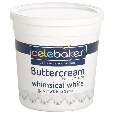 Celebakes Whimsical White Buttercream Icing, 14 oz.