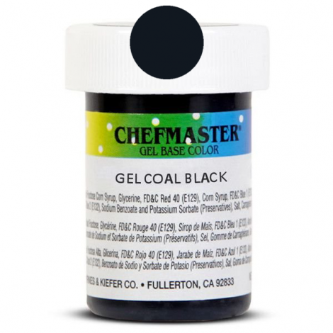 Gel Food Color Coal Black - 1 oz