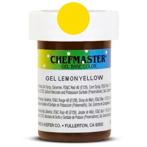 Gel Food Color Lemon Yellow - 1 oz
