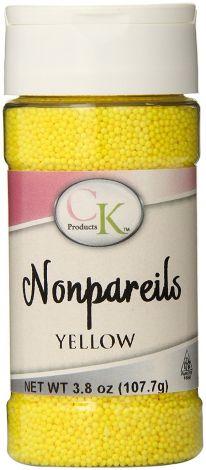 3.8 oz Non-Pareils Yellow