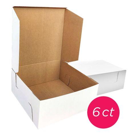 12x12x6 White/Brown Kraft Cake Box, 6 ct.