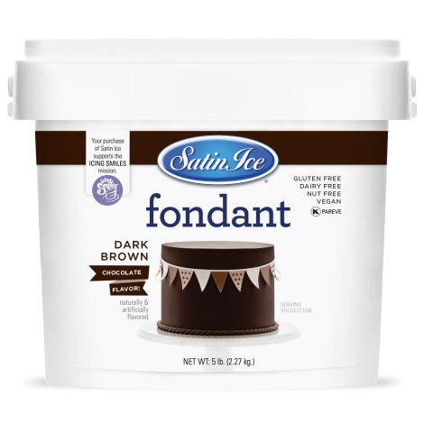 Satin Ice Fondant Dark Chocolate 5#